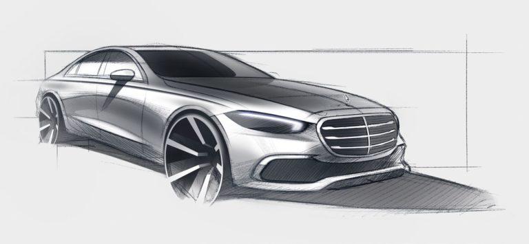 Mercedes S-Klasse Skizze