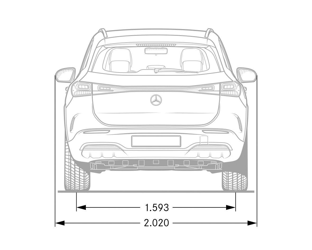 Mercedes EQA Abmessungen