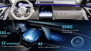Mercedes Interieurvergleich S-Klasse EQS