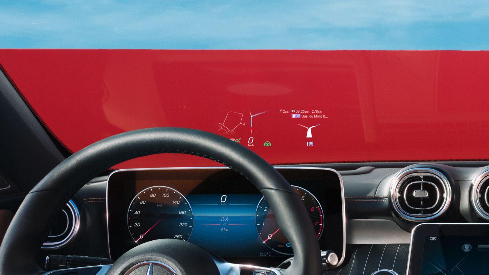 Mercedes C-Klasse Head-up-Display