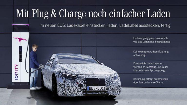 Mercedes EQS Plug and Charge