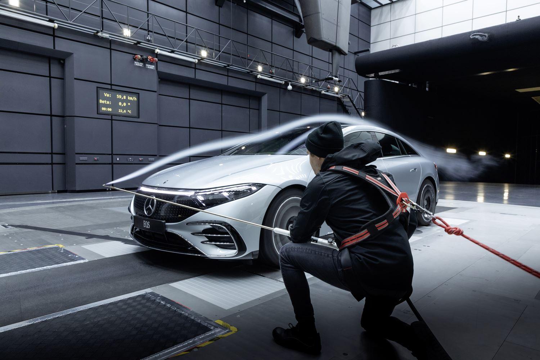 Mercedes EQS Weltrekord Aerodynamik V297