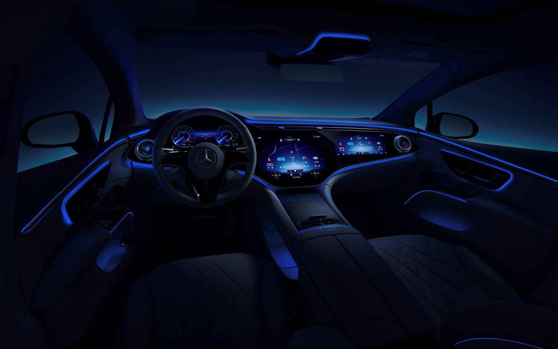 Mercedes EQS aktive Ambientebeleuchtung