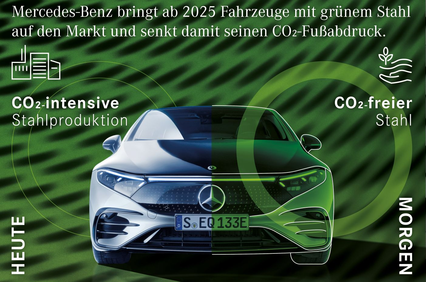 Mercedes mit grünem Stahl CO2-neutral