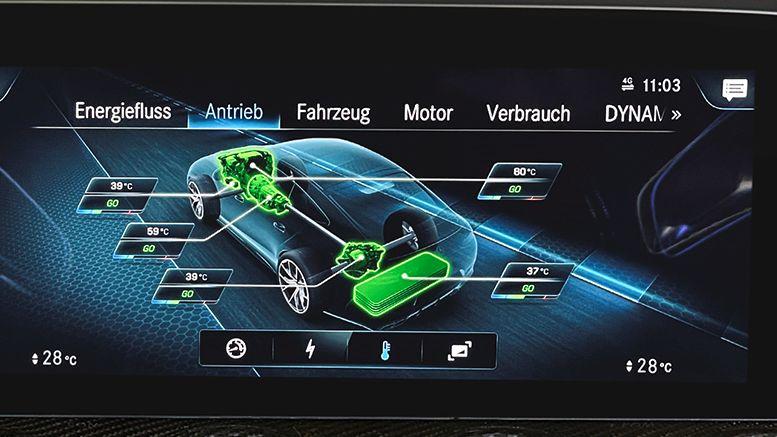Mercedes AMG GT 63 S E Performance Anzeige