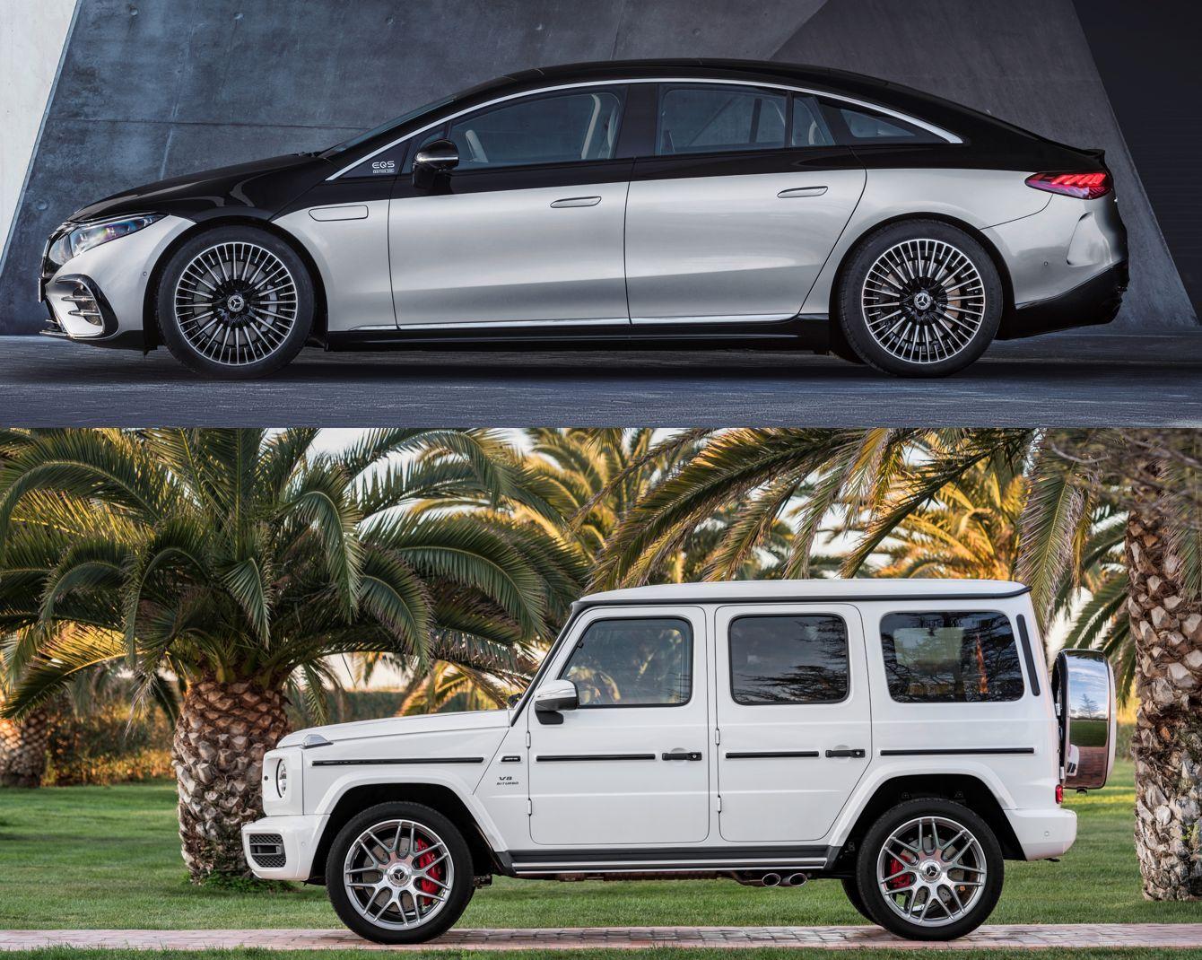 Mercedes EQS und G-Klasse