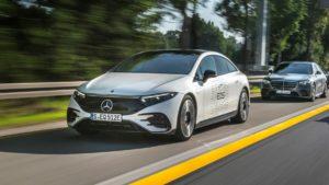 Mercedes EQS Testfahrt