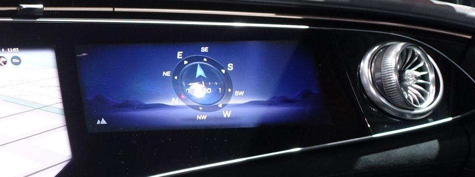 Mercedes EQS MBUX Hyperscreen Kompass